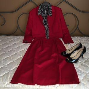 Pendleton Red skirt suit set